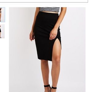 💥 Charlotte Russe sexy Black Pencil Skirt